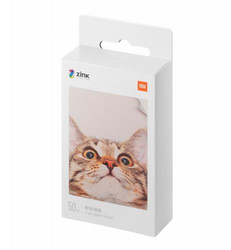Imagen 1 de 5 de 50 Hojas De Papel Para Impresora Portátil Xiaomi Originales