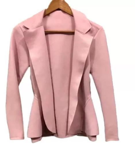 3541191800 Blazer Neoprene Casaco Terninho Feminino Plus Size G1 G2 G3