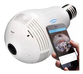 Camera Espia Lampada 360º Visão Panorâmica Wifi 4g Android