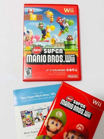 Case E Manual Super Mario Bros Nintendo Wii