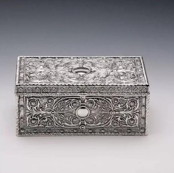 Porta Joia Retangular Silver Ware Prestige Collection 9480