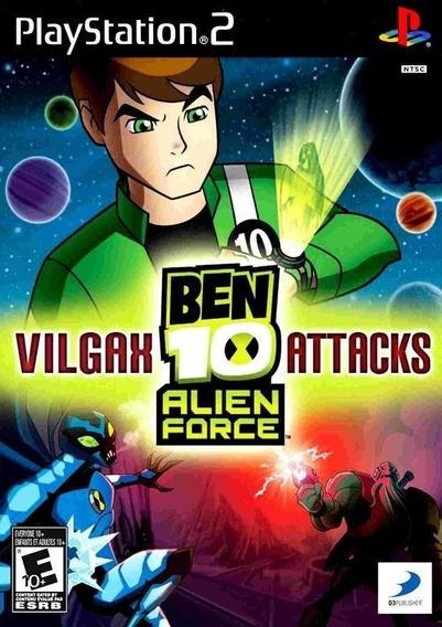 Jogo Ben 10 Alien Force: Vilgax Attacks Ps2