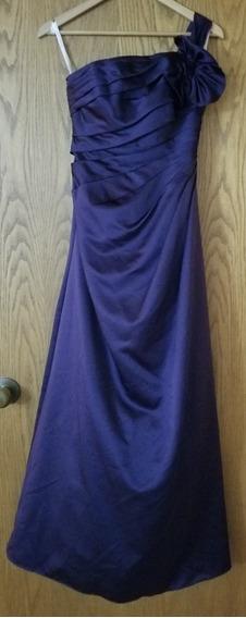 Vestido De Fiesta Largo David Bridal Importado De Usa-violet