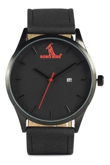 Relógio Analógico Aço Inox Bobo Bird G151 Preto