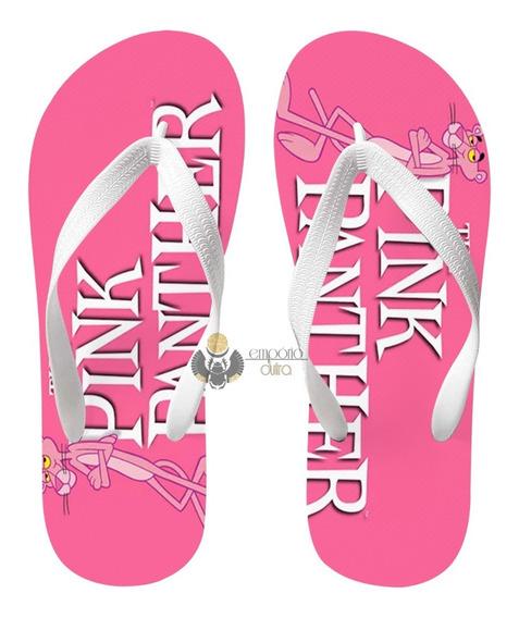 Chinelo Pantera Cor De Rosa Pink Phanter Desenho Classico