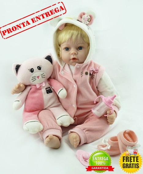 Bebê Reborn Victoria Pronta Entrega 55 Cm
