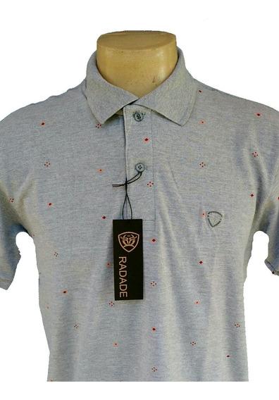 Camisa Polo Radade Classic Mini Print Cinza