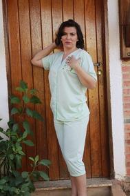 2ec9b788c Pijama Sonhart Gestante Com Botões Pijamas - Roupa de Dormir para ...