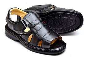 Sandália Masculina Ortopédica Chinelo Sapato Calçado Aberto