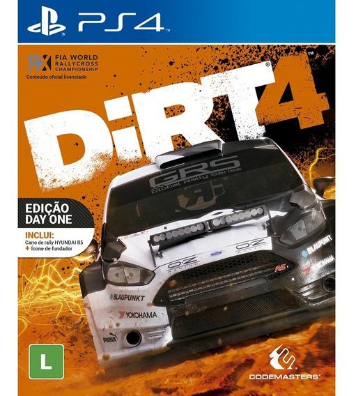 Dirt 4 Ps4 - Edição Day One Midia Fisica Novo Lacrado + Nf