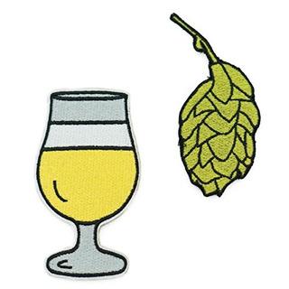 Lúpulo De Cerveza Y Cerveza Juego De Parche Bordado Para Pl