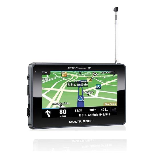 Gps Multilaser Tracker Iii Tela 4.3 Pol. Preto Tv - Gp034