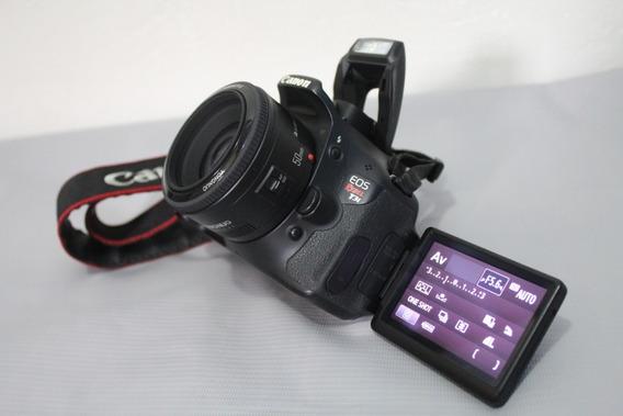 Canon T3i Com Lente 50mm 1.8 Tenho Outras Lentes Confira