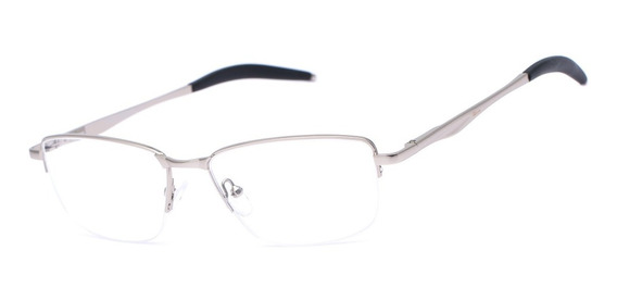 Armação Oculos Ogrife Og 1740-c Metal Masculino Fio Nylon