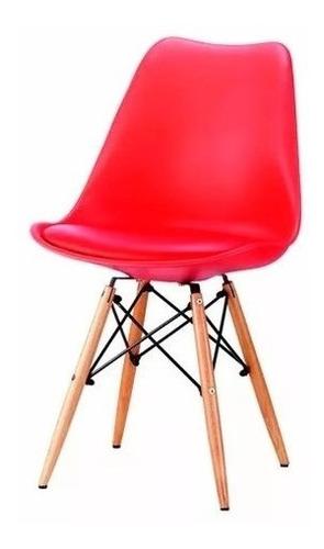 Silla Eames Butaca Moderna Rojo Y971r - Muebles Express