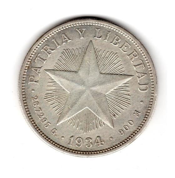 Bkz / Cuba - 1 Peso 1934 Plata