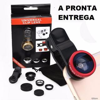 Kit Lentes Celular Lentes 3 Em 1 Universal Clip Lens Selfie