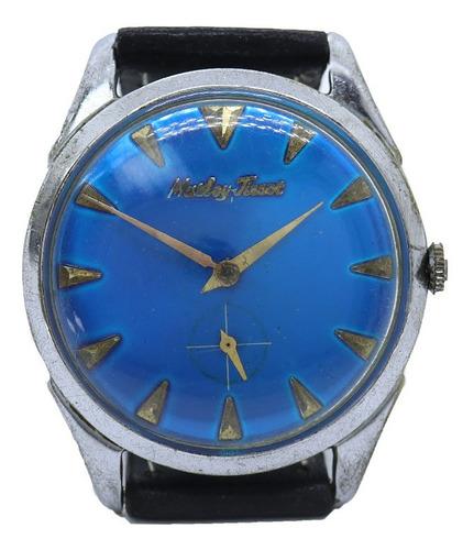 Relogio Matley Tissot Fundo Azul Aço Masculino Pulso J23082