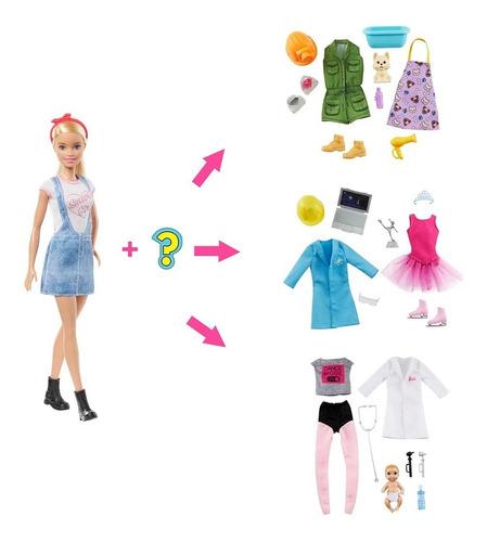 Barbie Set Profesiones Sorpresa Original