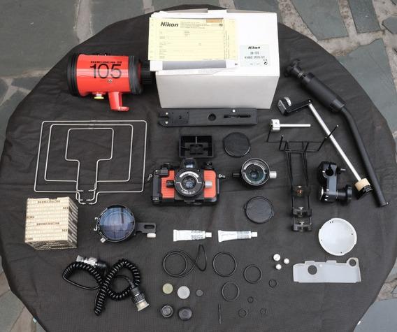 Kit Subaquático Câmera Nikonos V, 28mm, 35mm E Flash Sb105