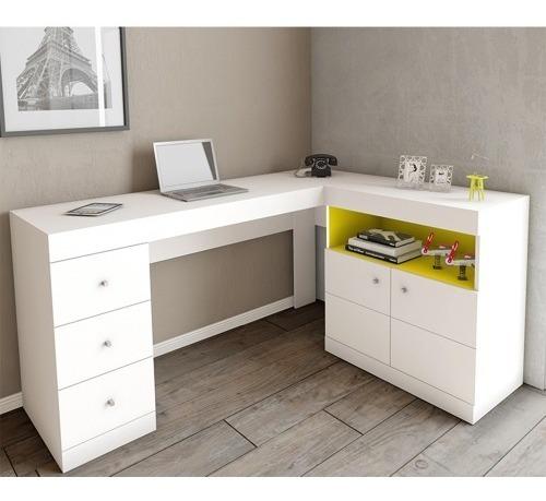 Mesa Computador Caemmun Byte Canto Branca