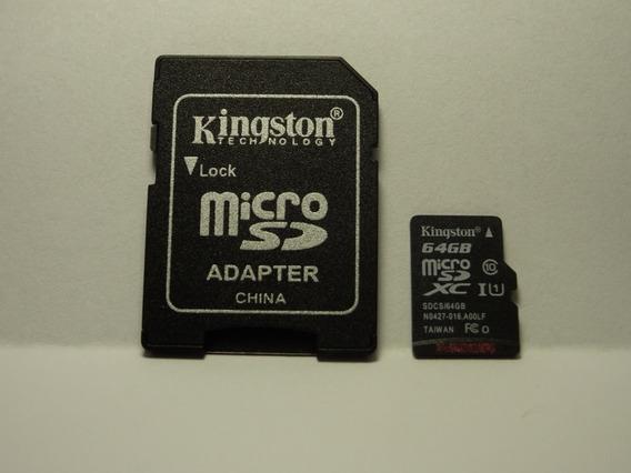 Cartão De Memoria Micro Sd Kingston 64gb Classe 10