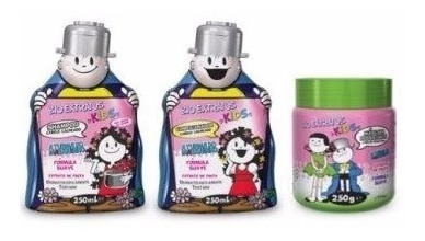 Kit Kids Cabelos Cacheados 3 Produtos Bio Extratus