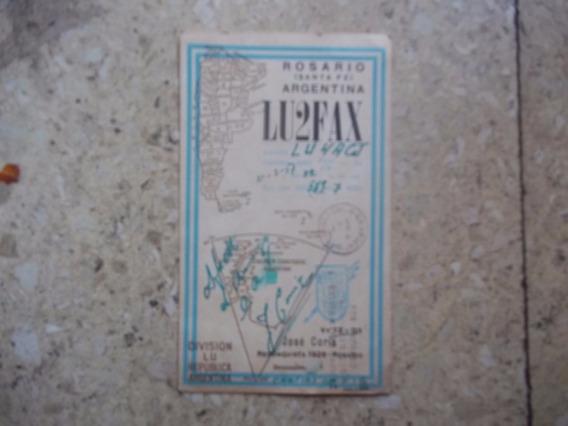 X - Antigua Tarjeta Postal Radioaficionado Mapa Peronista