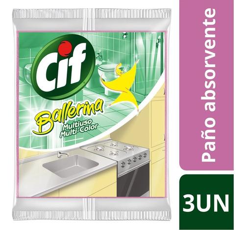 Paño Absorbente Cif Balerina Multiuso 3 Un