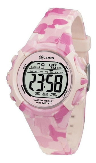 Relógio Feminino Infantil Digital X-games Rosa Xfppd055 Bxrx