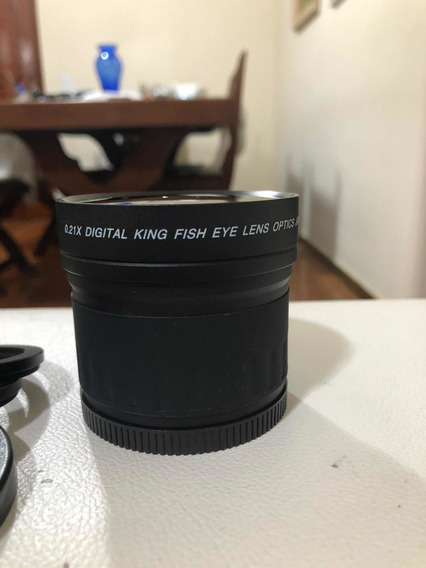 Lente Angular Fisheye Olho De Peixe 0.21x 58mm-52mm