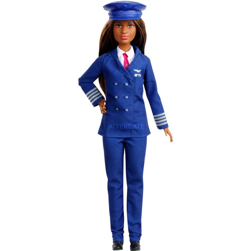 Muñeca Barbie Piloto Carreras 60 Aniversario Mattel Gfx25