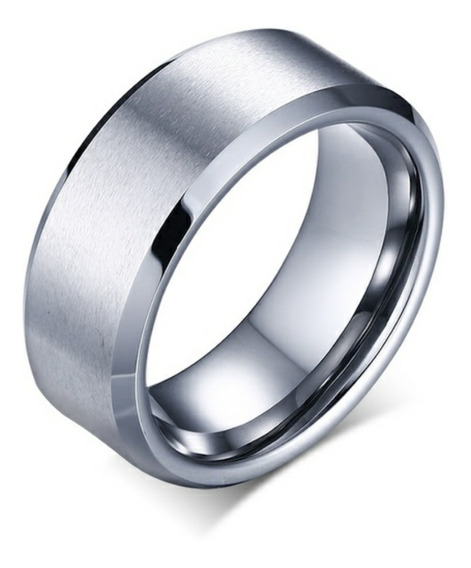 Anel Aliança Titanium Prata Masculino E Feminino Titânio