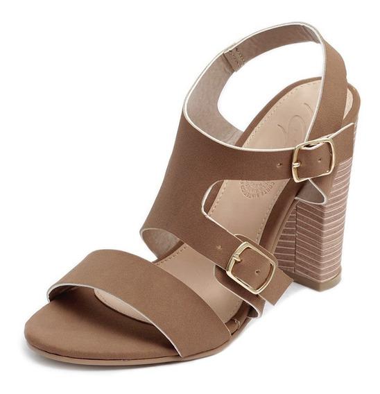 Tacón Zapatillas Plataforma Sandalias Mujer Moda Ocre 4001