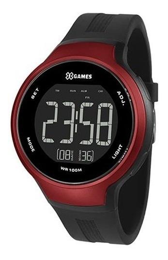 Relógio X-games Masculino Digital Preto E Vermelho Xmppd552