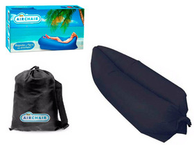 Saco Dormir Sofá Inflável Camping Praia Lay Bag Chair Preto