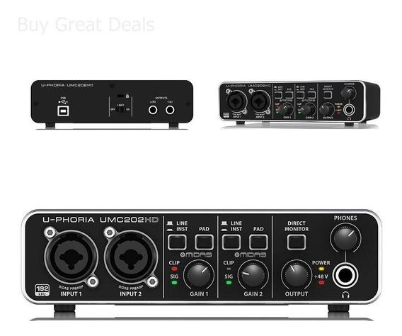 Behringer Umc202 Hd U-phoria Interface De Audio Usb