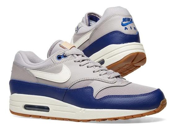 Zapatillas Hombre Nike Air Max 1 Premium Navy Blue Grey 9us