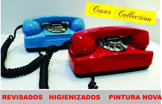 Telefone Tijolinho, Disco , Vermelho, Pintura Nova