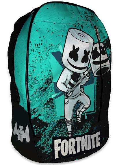 Mochila Marshmello Dj Fortnite Escolar 40x30x14 | Factura A