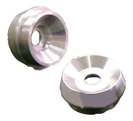 Batente Coxim Amortecedor Alumínio Gol Quadrado C/ Rolamento