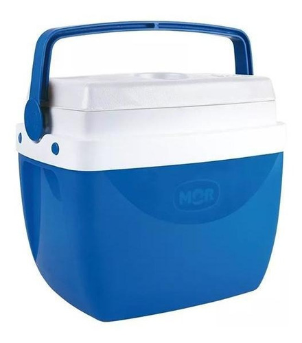 Imagem 1 de 3 de Caixa Térmica Mor 12l Com Alça Azul