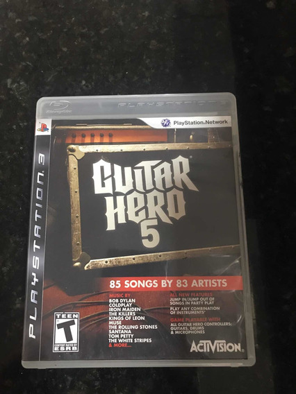 Jogo Ps3 Guitar Hero 5 Original Física