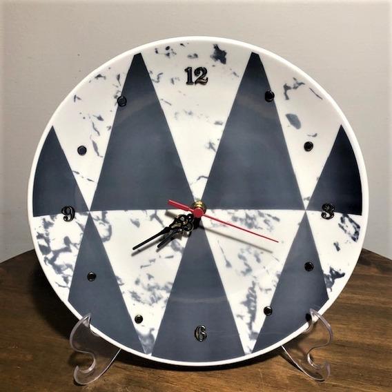 Relógio Geométrico 28,5cm