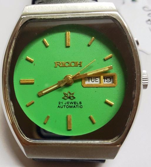 Colecionador Relógio Ricoh Japan 21 Jewels