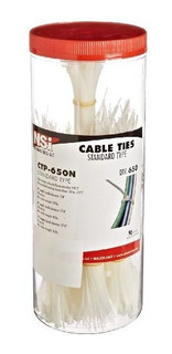 650piezas Cable Tie Canister Unidades Natural