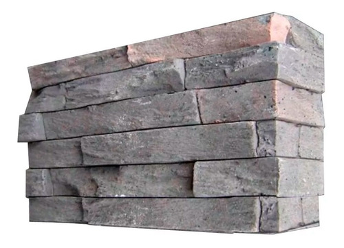 Imagen 1 de 10 de Esquinero Cementicio Ecostone Serrana Oxido (x Caja 1