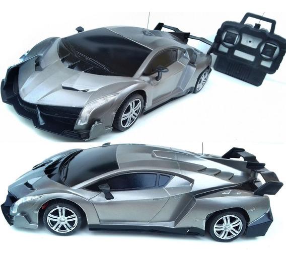 Lamborghini Carro Carrinho Controle Remoto Acende Farol 4ch