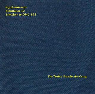 Tela Etamina 12 Azul Oscuro Marino Para Punto De Cruz