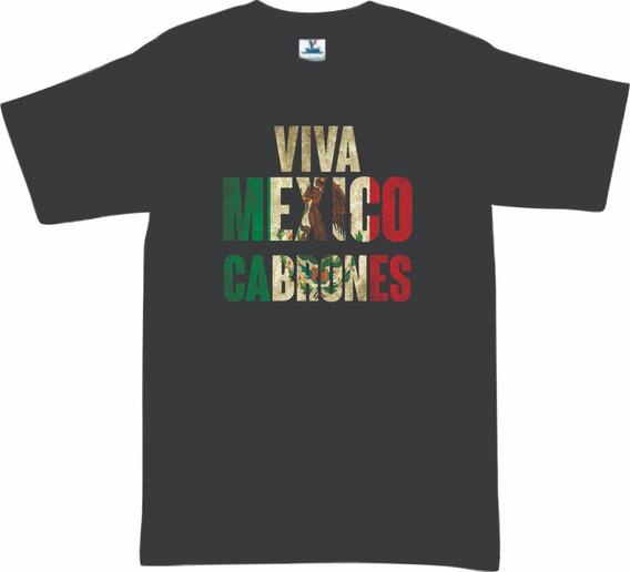 Playera Viva Mexico Cabrones Infantil 15 De Septiembre Mod 1